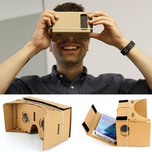 Buy Cardboard Virtual Reality 3D Glasses Video Novelty Film Android Phone Gag Toys DIY New Hot! for $2.10 in AliExpress store