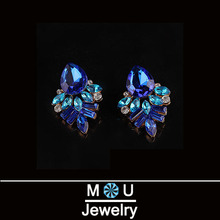 1pcs free shipping 2015 New Fashion accessories sparkling gem bow stud earrings for women EBK013(China (Mainland))