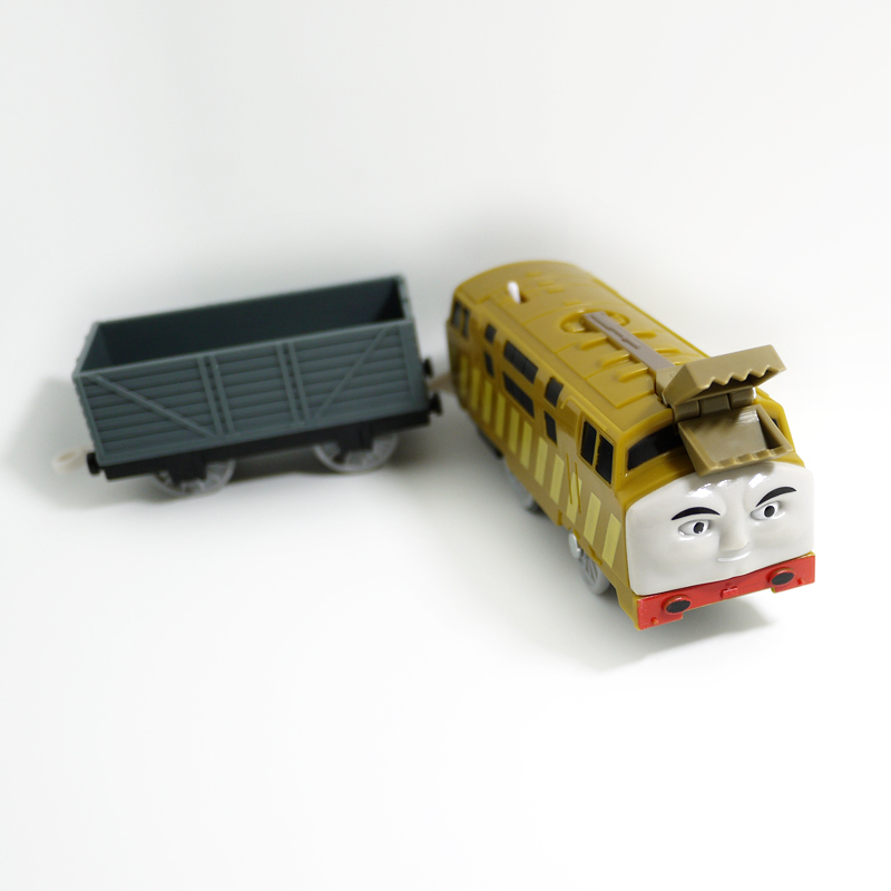T0206 Electric Thomas and friend Diesel 10 with a Carriage Trackmaster engine Motorized train Chinldren child kids plastic toys(China (Mainland))