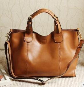 Womens Leather Shoulder Computer Bag 22