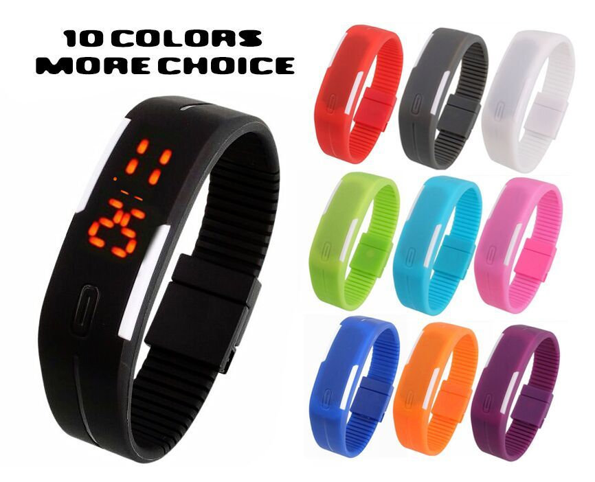 2015 New Fashion Sport LED Watch Candy Color Silicone Rubber Touch Screen Digital Watches Waterproof Wristwatch Dress Bracelet - Shenzhen INP Trading Company store