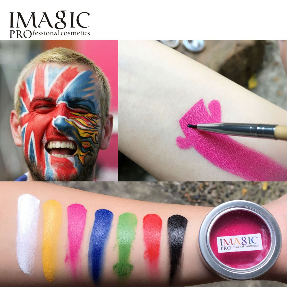 hot sale new Halloween Make Up tool 7 colors Face Body Paint Flash Color Oil Painting Art Party Fancy Dress Makeup Tools(China (Mainland))
