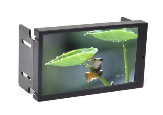 """F6.95"""" Double DIN Touch Screen VGA Monitor with AV2 Reverse Camera First for Car PC , 2 DIN Carputer Display ,2DIN Car Monitor(China (Mainland))"""
