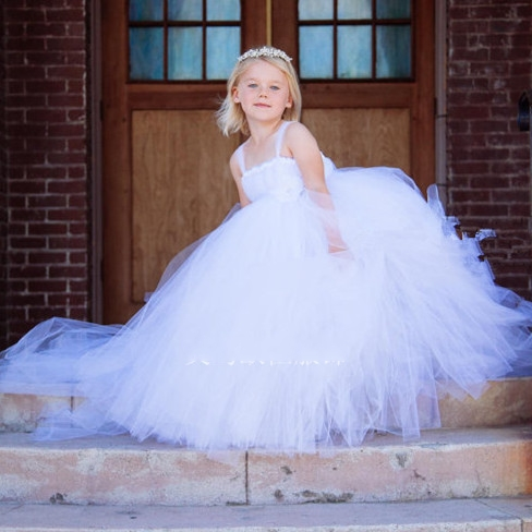 Infant princess costumes/Girl Tail wedding dresses/Flowers Solid Girls Tutu Evening dress/Christmas costumes for girls