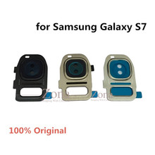 Buy Original Genuine Camera Glass Lens + Lens Cover Samsung Galaxy S7 Replacement Part Adhesive Sticker for $5.39 in AliExpress store