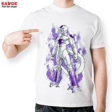 [EATGE] Fashion Anime Purple Freezer T Shirt Dragon Ball Z T-shirt Style Cool Printed Short Sleeve Cartoon Unisex Tee