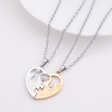 2015 New Couple Lovers Necklaces I Love You Letters Pendant Necklace Women Fashion Jewelry