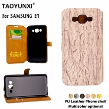 Buy PU Leather Flip Cover Samsung Galaxy E7 E7009 SM-E700F Back Cases Card Slot Tree Veins Magnetic Wallet Stand Phone Case for $2.68 in AliExpress store