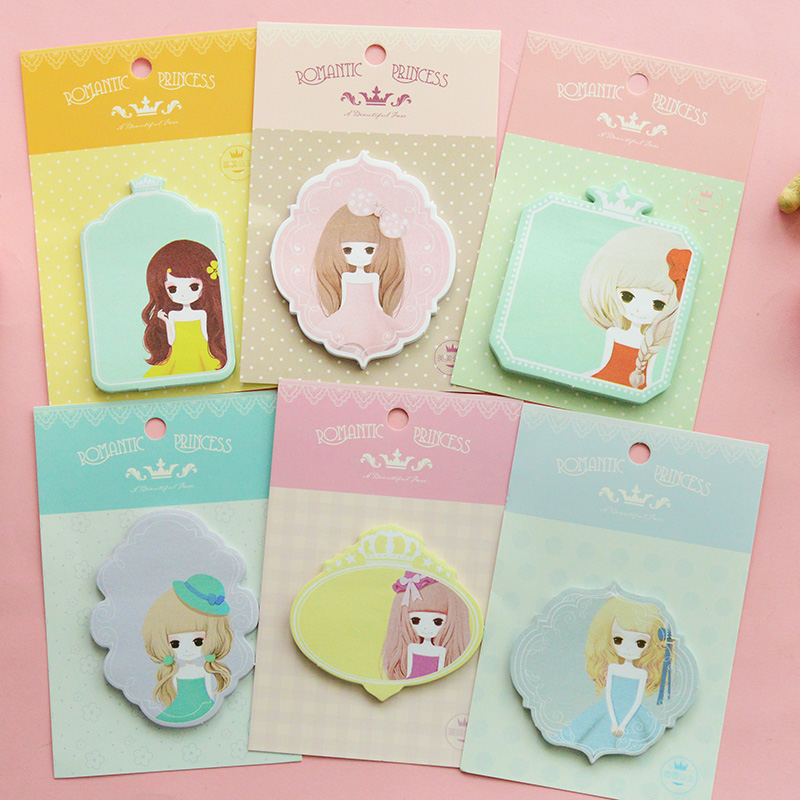 Sweet Girls Memo Pad Sticky Notes Memo Notepad School Office Supply Escolar Papelaria Gift Stationery<br><br>Aliexpress