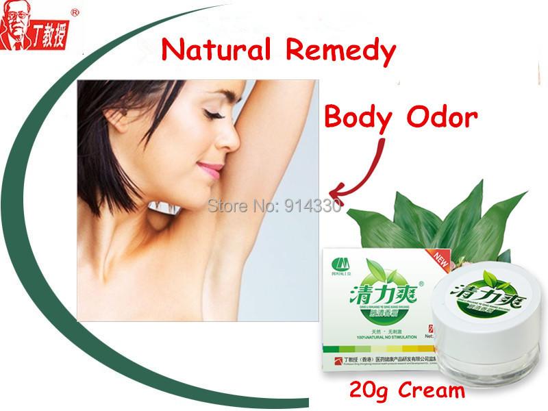 4Packs Natural remedies body odor treatment Antiperspirant deodorant Bromhidrosis herbal cream(China (Mainland))