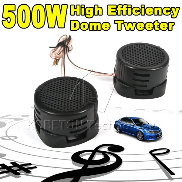 2015 Hot Sale 2X 500W High Efficiency Car Auto Audio Dome Tweeter High Pitch Loudspeaker HF Components Super Power Loud Speaker(China (Mainland))