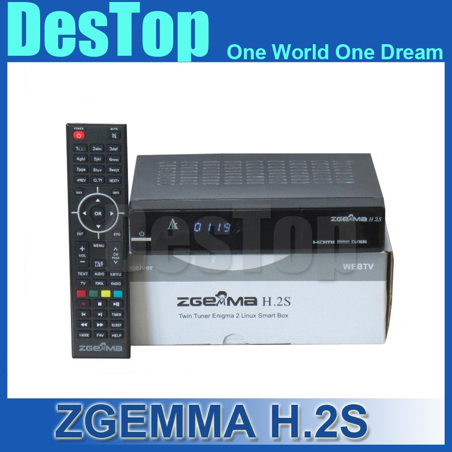 NEW Zgemma Star H.2S Satellite receiver Two DVB-S2 Tuner built-in enigma 2 linux OS Zgemma-star H.2S Full HD satellite receiver(China (Mainland))
