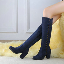2014 NEW knee high boots for women fashion motorcycle boots platform shoes girls long boots winter boots(China (Mainland))