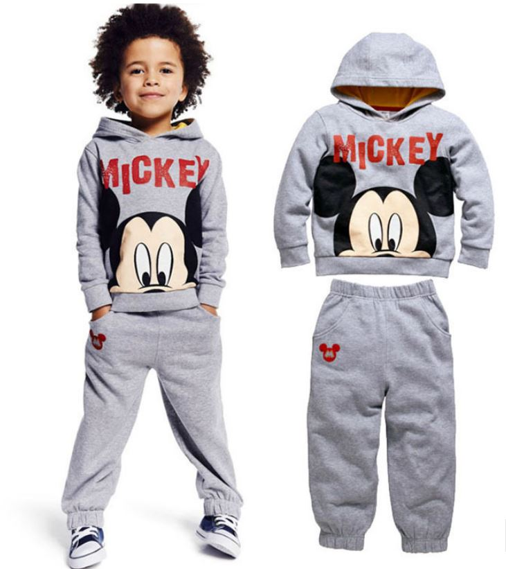 winter autumn children's clothing suits Mickey kids hoodies + pants 2 pcs children sports suit boys clothes set retail YAZ074(China (Mainland))