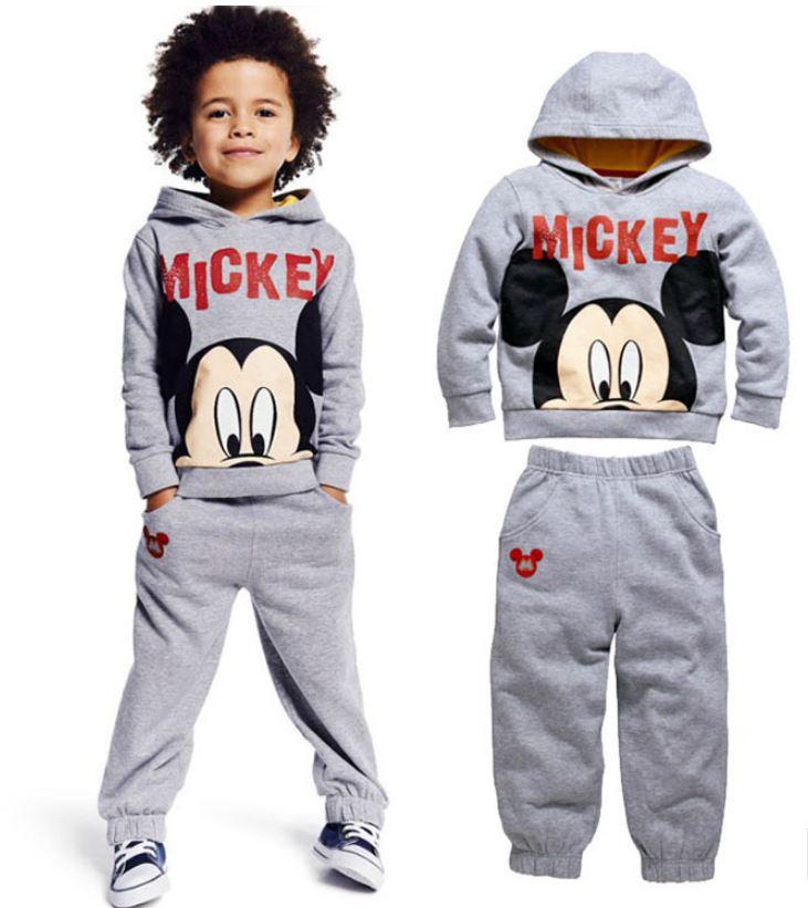 winter autumn children's clothing suits Mickey kids hoodies + pants 2 pcs children sports suit boys clothes set retail YAZ074(China (Mainland))