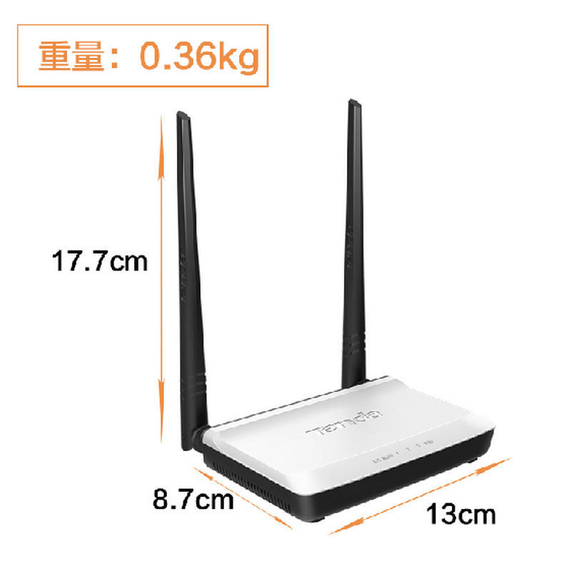Hot sale Tenda N300 wireless router Double antenna high penetrability 2.4G wireless router(China (Mainland))