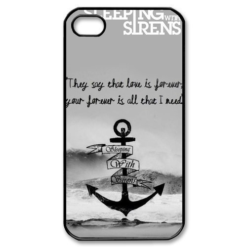 Free shipping Sirens Cross Great Waves HARD cell phone Case Cover for 4 4S 5 5S 5G 5C(China (Mainland))