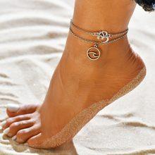 Modyle ヴィンテージシルバーゴールドカラー手錠女性ボヘミアン自由足首のブレスレットに脚裸足パーティージュエリ(China)