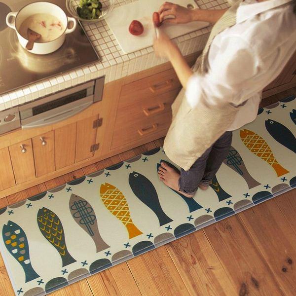 poissons paillasson alfombras salle de bain kitchenhome tapis absorbant non deacuterapant velours corail - Tapie Salle De Bain Aliexpress
