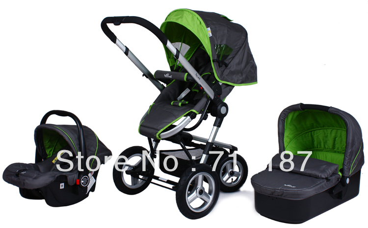 China Best Babies Strollers Luxury Reversible Umbrella Stroller 3 In 1,Comfortable Safe Shockproof With Carrycot&amp;Baby Car Seat<br><br>Aliexpress