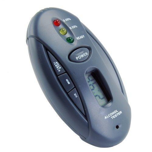 Free Shipping, 5Pcs/lot Breathalyzer Keychain Car Gadget - Flashlight + Stopwatch(Hong Kong)