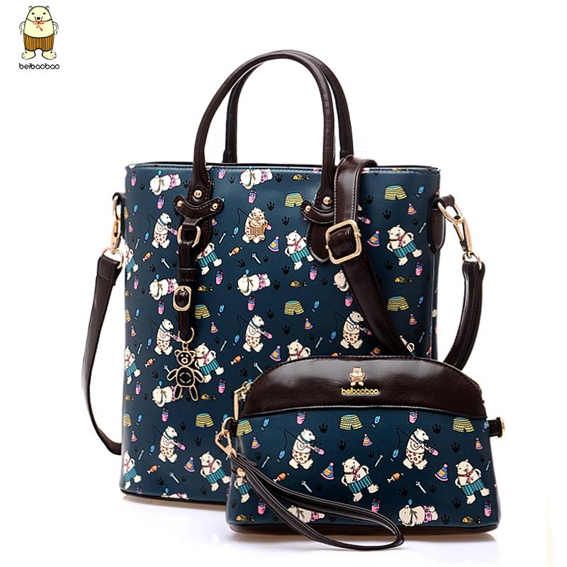 Handbags Real Messenger Bags Of 2015 Korean Version Of The New Bear Leisure Cluster Two Piece Suit Bag Handbag Crossbody Ladies (China (Mainland))