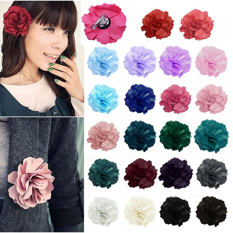 Fashion Women Flower Beach Peony Hair Clip Hairpin Brooch Bridal Wedding Party Hair accessories #70010(China (Mainland))