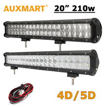 "Auxmart 20 inch LED Light Bar 210W CREE Chips 20"" LED Work Light 4D/5D Fit 4x4 Truck ATV RZR Trailer Roof Offroad Driving Light(China (Mainland))"