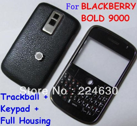 Grade A+ Free shipping+10pcs 9000 New Full faceplates phone housing cover case + keypad for blackberry cell phone,red,black(China (Mainland))