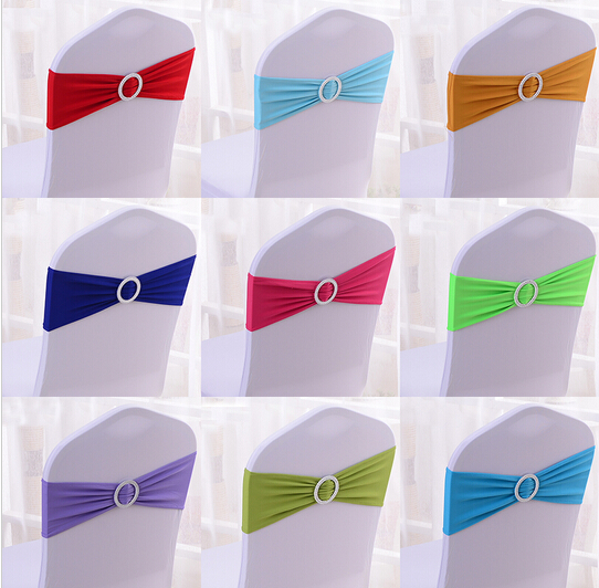 50pcs/lot Chair Cover Spandex Chair Bands for Wedding Chair Cover Sash Bands ,you can mix the color(China (Mainland))
