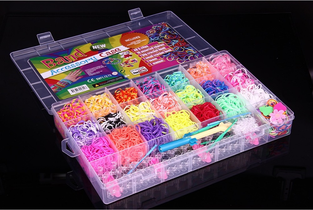 4400pcs DIY set silicone bands rubber bracelets for kids wholesale factory price gum for weaving bracelets loom bands(China (Mainland))