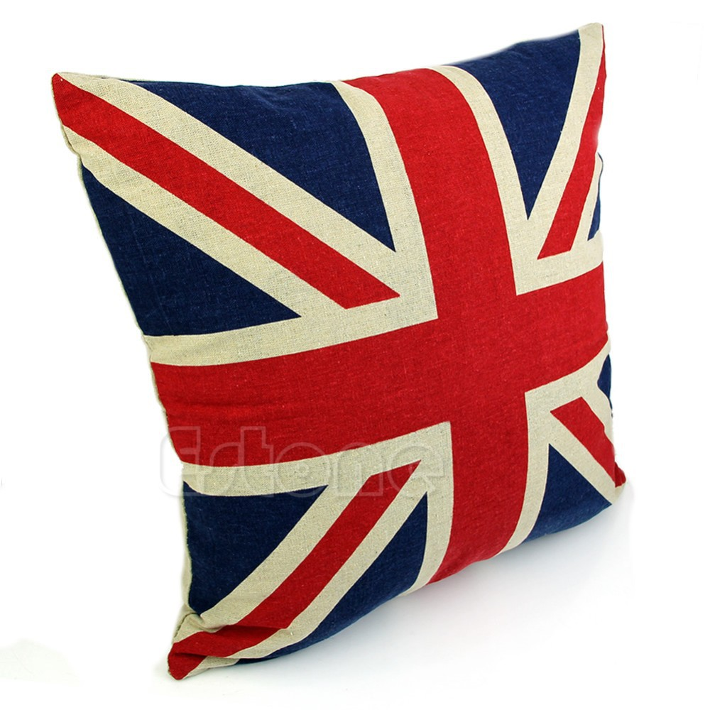 Union Jack Cushion Covers 45 45cm Linen Cotton Home Decor For Sofa Throw Pillows US Flag