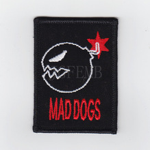 50%Embroidery Gundam MAD DOGS Military Tactical Morale Embroidery Patch Badges B2472