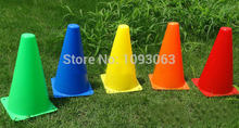 Pack of 5 pcs 23CM Flag Football Cylinder Traffic Barrel Mark Signpost Cone Barricades Obstacle Training Equipment(China (Mainland))