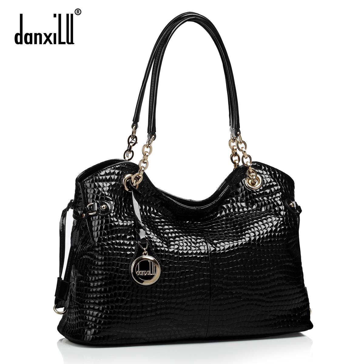 2015 Women Handbag Genuine Leather First Layer Of Cowhide Designers Brand Luxury Chain Bag Crocodile Shoulder Messenger Bags