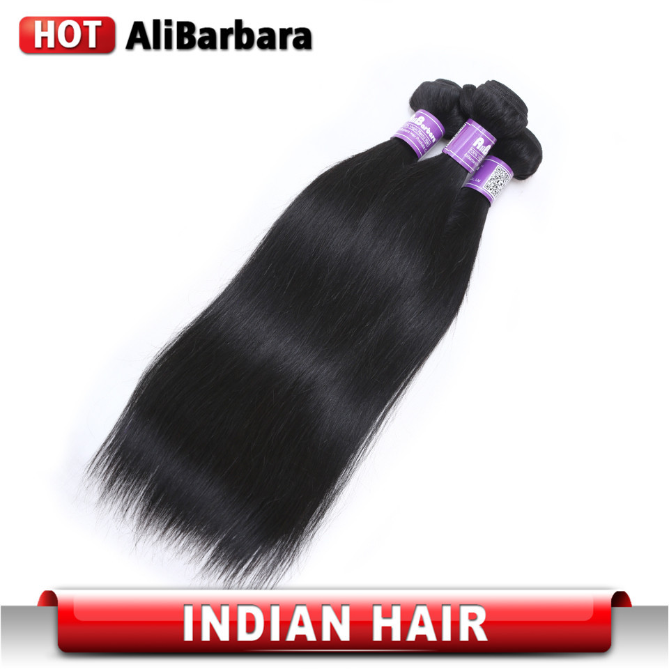 Cheap Indian virgin hair straight 4 pcs lot  unprocessed Indian human hair weaves virgin Indian hair straight thick ends <br><br>Aliexpress