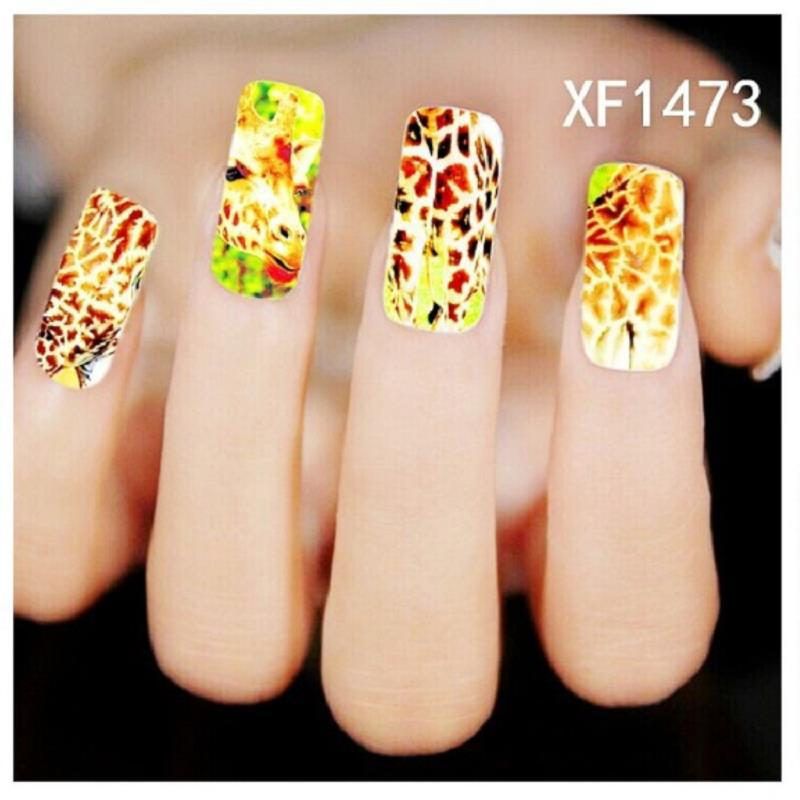summer style decorations Giraffe cartoon manicure water nail art stickers decals beleza french designer brand(China (Mainland))