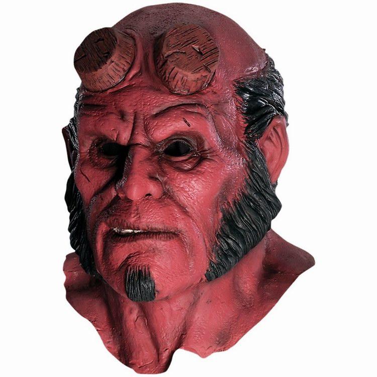 Hellboy mask hood halloween masks realistic silicone - Mascara de terror ...