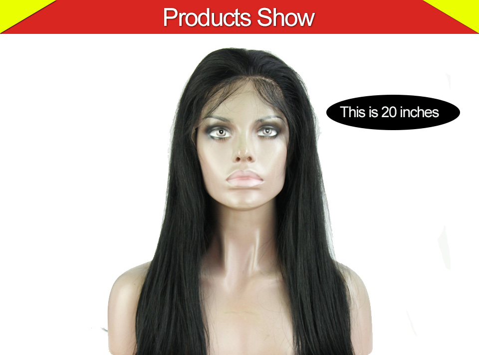250% Density 8A Glueless Full Lace Human Hair Wigs Brazilian Straight HairLace Front Human Hair Wigs For Black Women Promotion