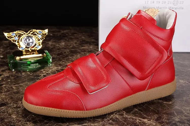 Collection Black Red White 3 Colors Quality 38-46 High Top Blazer Mens Shoes Rubber Sole Flats Casual