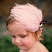 tz041 wholesale 12pcs 5color Children hair accessories/feather female babies /photo princess headdress flower/feather pad