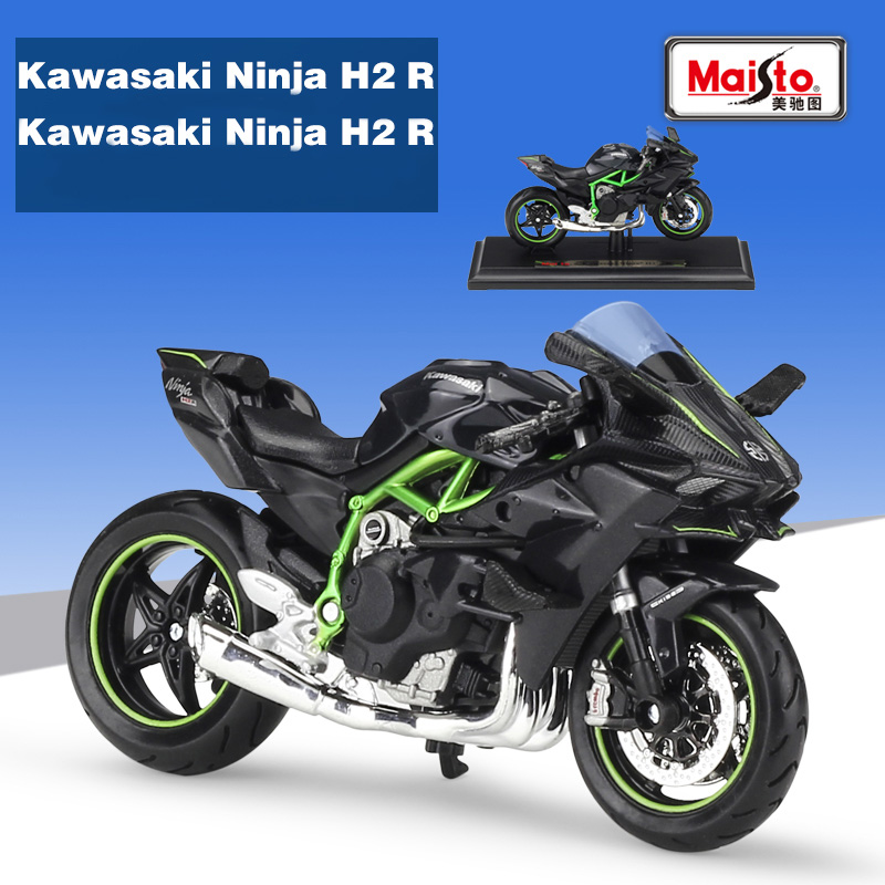 Maisto 1:18 KAWASAKI NINJA H2 R black Die-casts model bike Collection For Children Gift(China (Mainland))