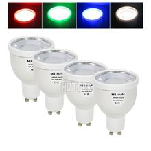 2.4G RGBW RGBWW GU10 AC85-265V Dimmable LED Spot Light Bulb Lamp / 2.4G Wireless Group Dimmer Remote / Mi Light Wifi Controller(China (Mainland))