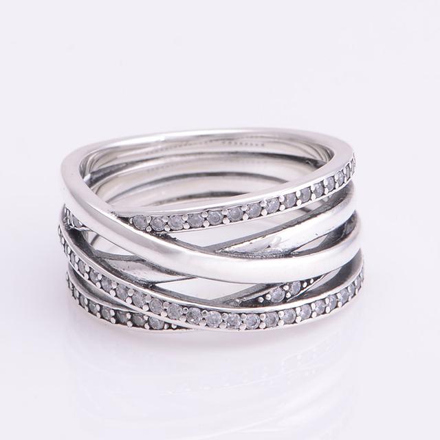 100% 925-Sterling-Silver мода CZ камни женщины галактика кольцо европейских мода ювелирные изделия для женщин DIY мода аксессуары и украшения