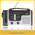 3PCS/LOT Portable Mini Crank Solar Emergency AM FM SW Shortwave Radio Receiver with Flashlight/ Solar light charger(China (Mainland))