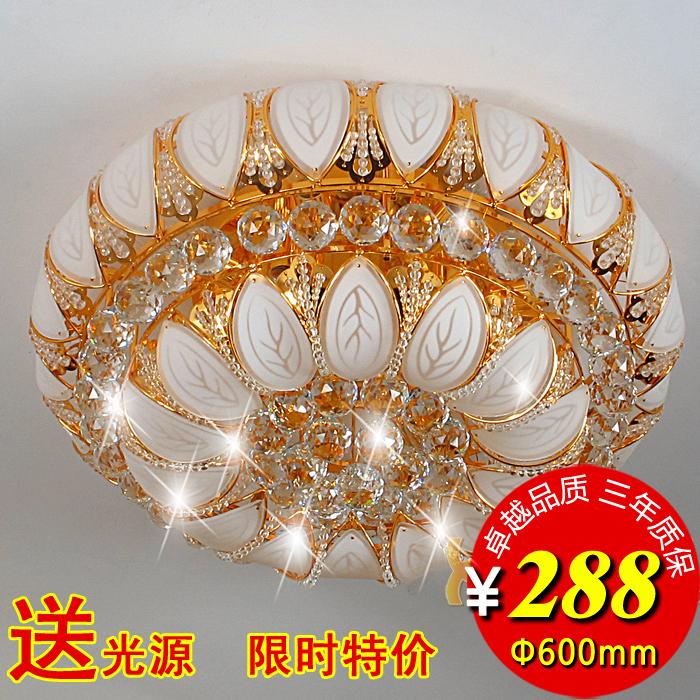 2016 Hot Sale Green Lamparas De Techo Colgante 600 Big Crystal Lamp Golden Ceiling Light K9 's Top Living Room Lights Bedroom(China (Mainland))