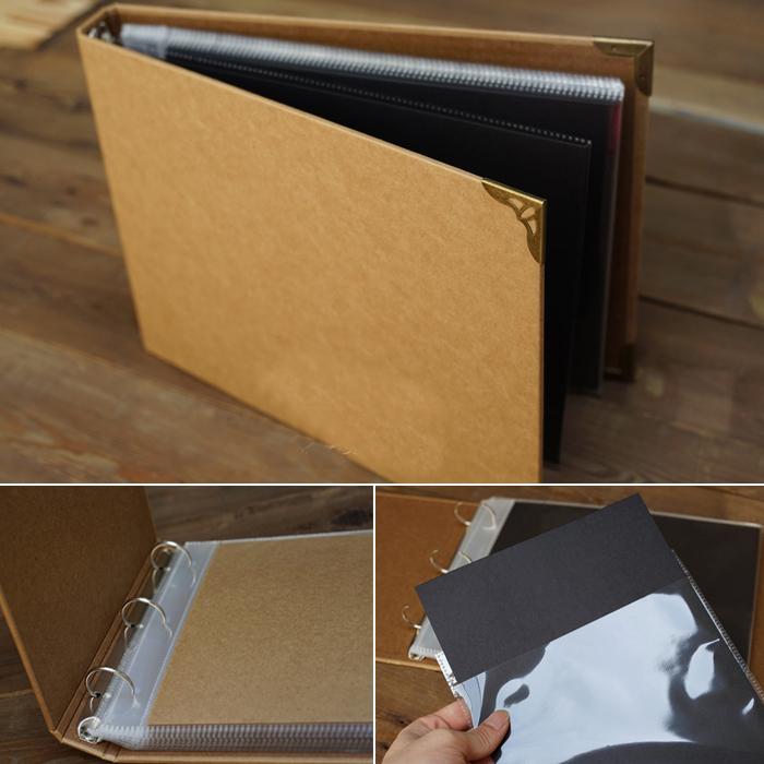 acheter a4 vintage kraft carte vierge couverture int rieur fil contraignant. Black Bedroom Furniture Sets. Home Design Ideas