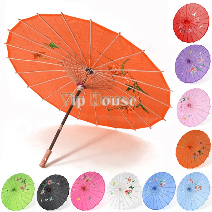 1 Pcs Japanese Chinese Bamboo Dance Umbrella Art Deco Parasol Art Umbrella 11 Colors 18301(China (Mainland))