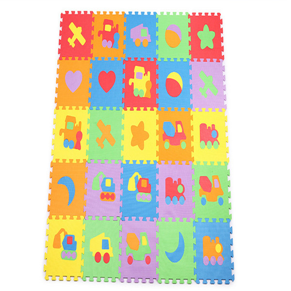 Hot selling 30*30cm 10pcs/set Puzzle Carpet Baby Play Mat Floor Puzzle Mat EVA Children Foam Carpet Mosaic floor(China (Mainland))