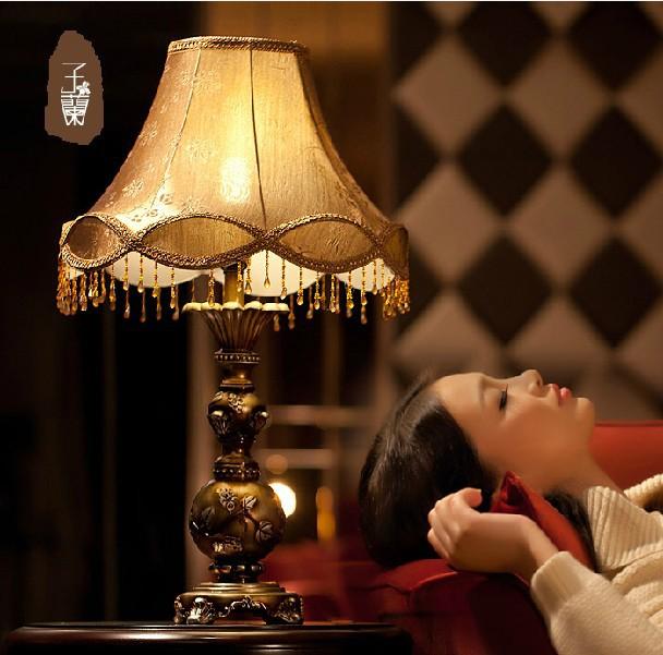 european style garden retro led table lamp living room. Black Bedroom Furniture Sets. Home Design Ideas